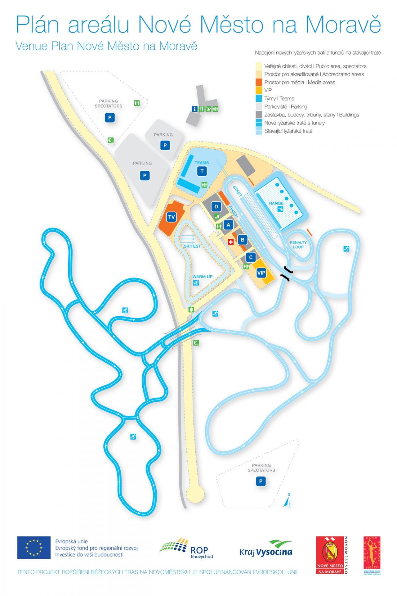 Plán areálu Nové Město na Moravě